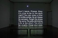 life is too short for cruelty