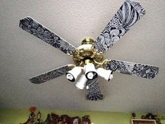 Random Anny .Com: Painting Ceiling Fan blades