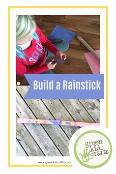 DIY Paper Roll Rain Stick craft for kids made from an upcycled wrapping paper roll. Decorate your own rainstick from craft materials found around the house. #kidscrafts #craftforkids #kidsactivities #homeschooling #keepingkidsbusy #STEMforkids #learningthroughplay #ecofriendlyliving #summercamp #summercamping #earlychildhoodeducation #keepingkidsbusy #funactivities #letthemexplore #kidswhoexplore #adventureswithchildren #homeschoollife #teachthemwell #environmentaleducation #greenkidcrafts
