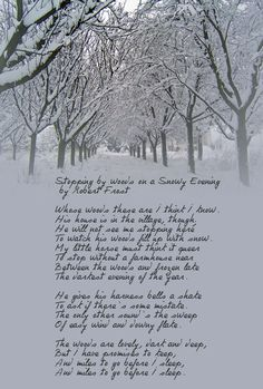 an analysis of the poems desert places and stopping by woods on a snowy evening To watch his woods fill up with snow --robert frost, stopping by woods on a snowy evening robert frost's stopping by woods on a snowy evening tells an invitingly simple story but as we read and reread the poem, we are drawn into questions and mysteries beginning with the oddly tentative note.