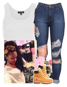 """""""✨"""" by saucinonyou999 ❤ liked on Polyvore featuring Topshop, MAC Cosmetics, Rolex and Timberland"""
