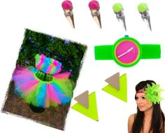 """""""Neon Party Wear"""" by stefanicamacho ❤ liked on Polyvore"""