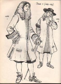 1690's Men's Fashion.
