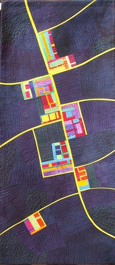 The Night Road map art quilt by Alicia Merrett.  Festival of Quilts 2011 -  224 by Very Berry Handmade, via Flickr    http://www.pinterest.com/source/aliciamerrett.co.uk/
