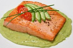 Healthy Salmon and Avocado