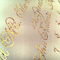 Recent Calligraphy: Gold Ink and more | Calligraphy by Jennifer