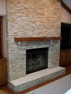 Like the stone, but hate the supports showing under mantle. Also don't want a hearth.