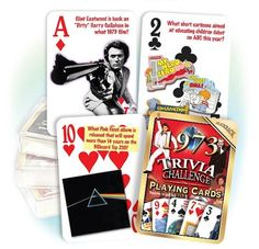 Flickback 1973 Trivia Playing Cards $6.95 #bestseller