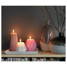 MJUKT Άοσμο μεγάλο κερί, σετ 3 τεμ. - IKEA