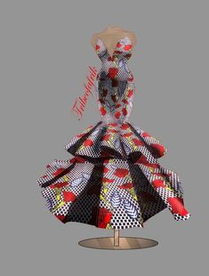 New Design: The Ladun Elegant African Print Dress – African Fashion Dresses - African Styles for Ladies African Prom Dresses, Ankara Gowns, Latest African Fashion Dresses, African Men Fashion, Africa Fashion, African Attire, African Wear, African Dress, Dress Illustration
