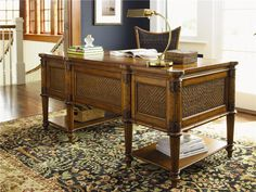 island estate fraser island desk with file drawer by tommy bahama home