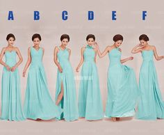 Tiffany blue bridesmaid dress chiffon bridesmaid dress by okbridal, $126.00