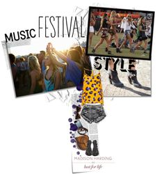 """""""Music Festival Style With Lust for Life x Madison Harding"""" by matildeln ❤ liked on Polyvore"""