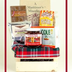 New Brunswick Tartan Mini Crate - full of unique gift ideas all hailing from New Brunswick, Canada. Available for order from www.BeenThereGifts.com - an Atlantic Canadian company.