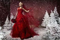 Winter Bride in Red