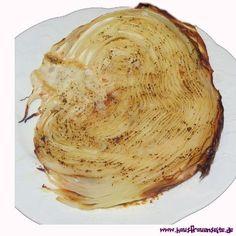 Weißkohlscheiben aus dem Ofen