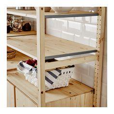 "IVAR 2 section shelving unit w/cabinet - 68 1/2x19 5/8x70 1/2 "" - IKEA"