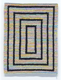 Artist Angela Teng makes art yarn from acrylic paint and crochets with it ...