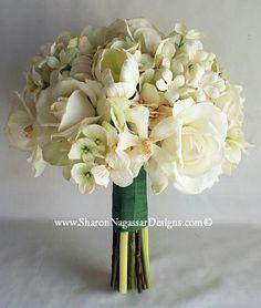 Bride's Bouquet - Hydrangea, Tulips, Stephanotis and Roses