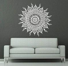 Wall Decals Mandala Ornament Indian Geometric Moroccan Pattern Namaste Flower Om Yoga Wall Vinyl Decal Stickers Bedroom Murals