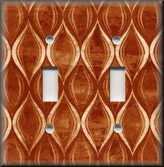 Light Switch Plate Cover - Slope Wave - Orange - Home Decor