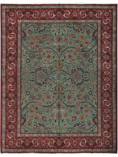 Fine Authentic Persian Tabriz Rug Wool and Silk