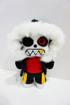 Underfell Sans Plush Inspired by Undertale 9 Inches Tall (Unofficial) Pocket Siz Undertale Cute, Undertale Comic, Pokemon Room, Underfell Sans, Sans And Papyrus, Bendy And The Ink Machine, Cute Dolls, Sewing Crafts, Ideas