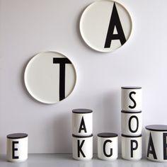 Design Letters - ABC Tassen, Dosen und Teller