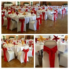 red and ivory wedding reception decorations - Google Search
