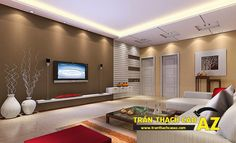 Thiết kế trần thạch cao phòng khách như thế nào để tránh xa tà khí?