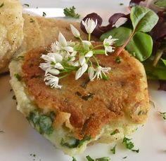 Wild Garlic Potato Cake