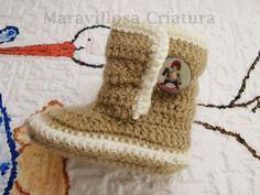 Scarpe da bambino all'uncinetto, morbido e comodo di Maravillosa Criatura su DaWanda.com