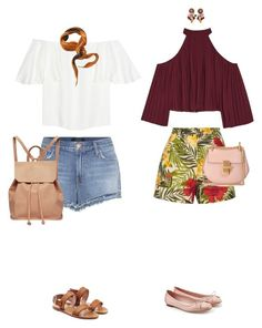 """""""Vacation with bff"""" by xoxomuty on Polyvore featuring Valentino, J Brand, Urban Originals, Hermès, RED Valentino, W118 by Walter Baker, Miguelina, Salvatore Ferragamo, Chloé and Dolce&Gabbana"""