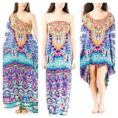 New Camilla Franks Silk Swarovski Artesania Round Neck Kaftan Dress | eBay