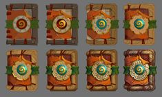 Hearthstone Rastakhan's Rumble card back and cards pack, Charlène Le Scanff (AKA Catell-Ruz) - Pubg, Fortnite and Hearthstone Hand Painted Textures, Fantasy Concept Art, Prop Design, Illustrator Tutorials, Drawing Tutorials, Game Icon, Game Assets, Texture Painting, Paint Texture