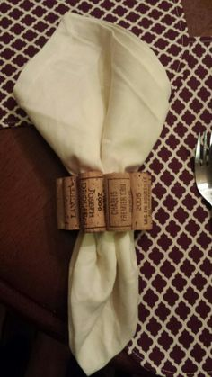 My creation: wine cork napkin holder