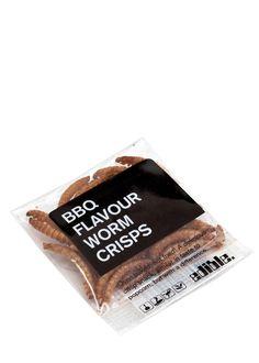 BBQ Flavour Worm Crisps 1.4g - Halloween Treats - Specialities & Seasonal - Food & Wine