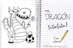 Dibujo de dragon futbolista