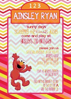 Sesame Street Elmo Birthday Invitation-Digital File. via Etsy.