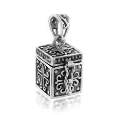 Bling Jewelry 925 Silver Antiqued Poison Prayer Box Cross Locket Pendant >>> More info could be found at the image url.