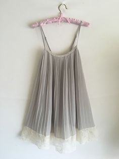Victoria's Secret Angels Pleated Gray Lace Babydoll Lingerie Chemise Gown s M | eBay