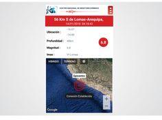 Instituto Geofísico del Perú - IGP informa sobre el sismo ocurrido en la madrugada de este domingo a 56 KM al sur de Lomas, Arequipa | Instituto Geofísico del Perú Informa, Desktop Screenshot, Dawn, Arequipa, Domingo