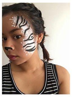 Zebra Makeup, Animal Makeup, Face Painting Designs, Body Painting, Simple Face Painting, Zebra Face Paint, Zombie Face Paint, Cute Clown Makeup, Animal Face Paintings