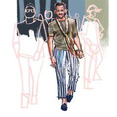 SEUNG WON HONG - New York Fashion week 2015 sketch by Seung Won...