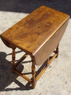 refurbished drop side table and 2 antique chairs | refurbished
