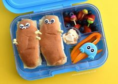 Easy monster lunch idea for kids from Eats Amazing UK - packed in the Yumbox Panino bento box with fun bento picks to decorate