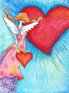 heart angel by Myrthe Krook