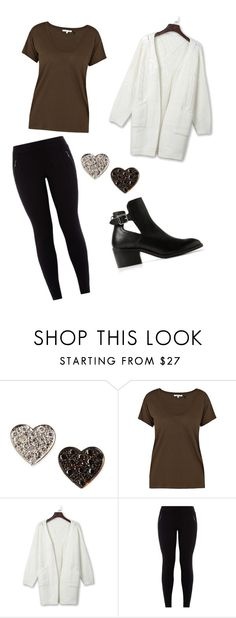 """""""Untitled #110"""" by lolocan on Polyvore featuring Kacey K Fine Jewelry, Helmut Lang, WithChic and MANGO"""