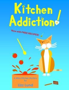 "FREE Cozy Mystery in ""Kitchen Addiction"" by Lizz Lund  Kitchen Addiction by Lizz Lund  Mina Kitchen Mystery #1, with Free Recipe  Was $3.97 – FREE Nov 29-30, 2014 Meet Mina Kitchen, a forty-something single who likes to cook – and cook and cook. In fact, her zest for whipping up trays of canapes is dwarfed only by her weird luck and mountain-lion size tabby cat, Vinnie. That, and her godmom's tendency for blackmailing new members into joining St. Bart&#"