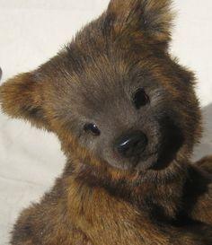 Brown Bear cub - artist bear soft sculpture by 'Bear' Bottoms Originals